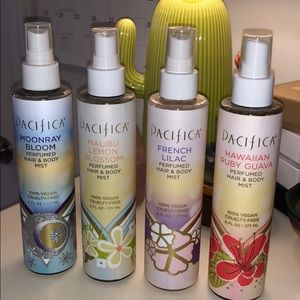 Pacifica Hair and Body Mists x4